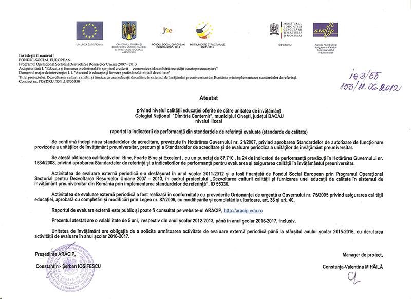 diploma ARACIP